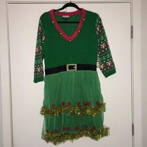 Allison Brittney Ugly Sweater Dress